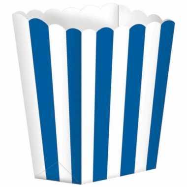 Bioscoop popcorn bakjes blauw stuks