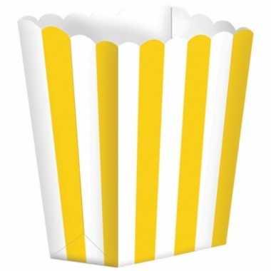 Bioscoop popcorn bakjes geel stuks