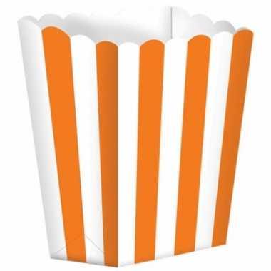 Bioscoop popcorn bakjes oranje stuks