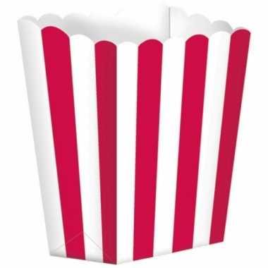 Bioscoop popcorn bakjes rood stuks