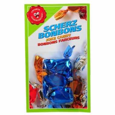 Fop bonbons blauwe mond