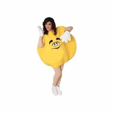 Geel skittle kostuum volwassenen