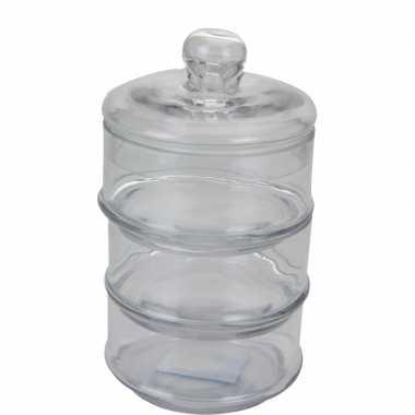 Glazen voorraadpot laags cm