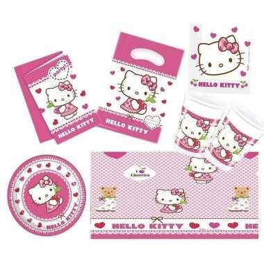 Hello kitty thema kinderfeestje versiering pakket personen