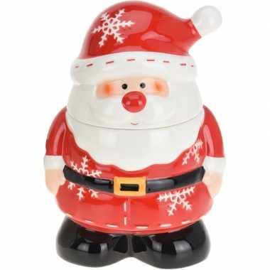 Kerst decoratie koekpot/snoeppot kerstman