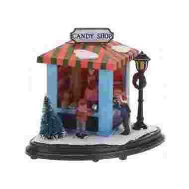 Kerstdorp marktkraampje snoepjes led lichtjes
