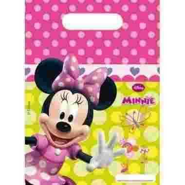 Kinderverjaardag uitdeel zakjes Minnie Mouse stuks