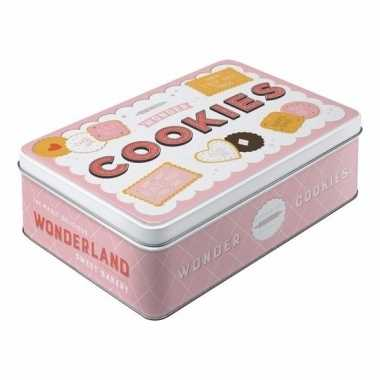 Koektrommel roze cookies