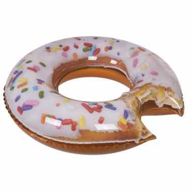Opblaasbaar donut zwemband zwemring