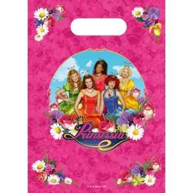 Prinsessia thema feestzakjes stuks
