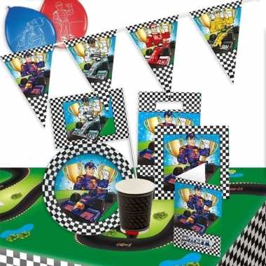 Race/formule thema kinderfeest pakket