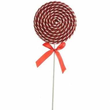 Rood/witte lolly kerstversiering hangdecoratie