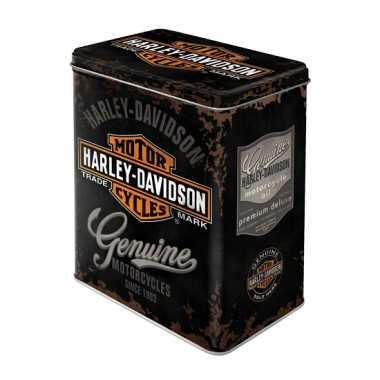 Tinnen Harley Davidson blik