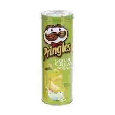 Voorraadblik Pringles tube opdruk groen