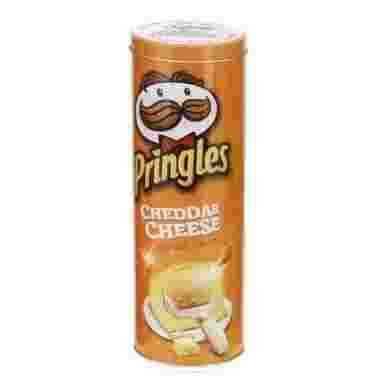 Voorraadblik Pringles tube opdruk oranje