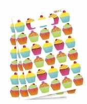 Cupcake versiering feestzakjes