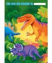 Dino themafeest zakjes stuks plastic