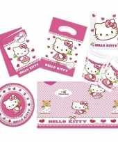 Hello kitty thema kinderfeestje versiering pakket personen 10153645