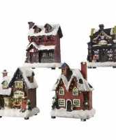 Kerstdorp kersthuisje snoepwinkel led verlichting