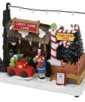 Kerstdorp snoep kraampje winkeltje led verlichting
