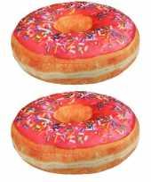 Set stuks sprinkels donut kussens roze 10234326