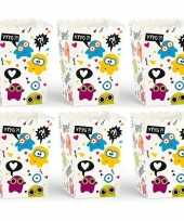 X popcorn bakjes monster thema 10143203