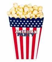 X popcorn bakjes snoepbakjes usa amerika thema