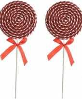X rood witte lolly kerstversiering hangdecoratie